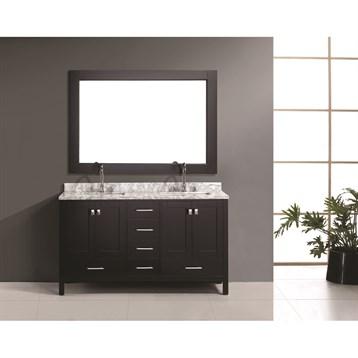 """Design Element London 60"""" Double Vanity Set, Espresso DEC082A by Design Element"""