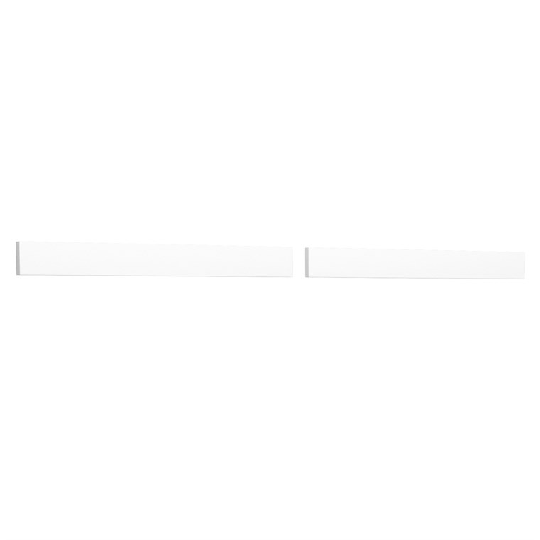 "Replacement 60"" Backsplash - White Cultured Marble REPL-WC-VCA-60-BS-WHC"