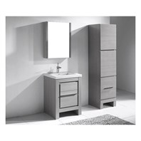 "Madeli Vicenza 24"" Bathroom Vanity For X-Stone - Ash Grey B999-24-001-AG-XSTONE"