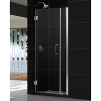 "Bath Authority DreamLine Unidoor Frameless Hinged Shower Door with Stationary Panel (29 to 30"") SHDR-20297210"