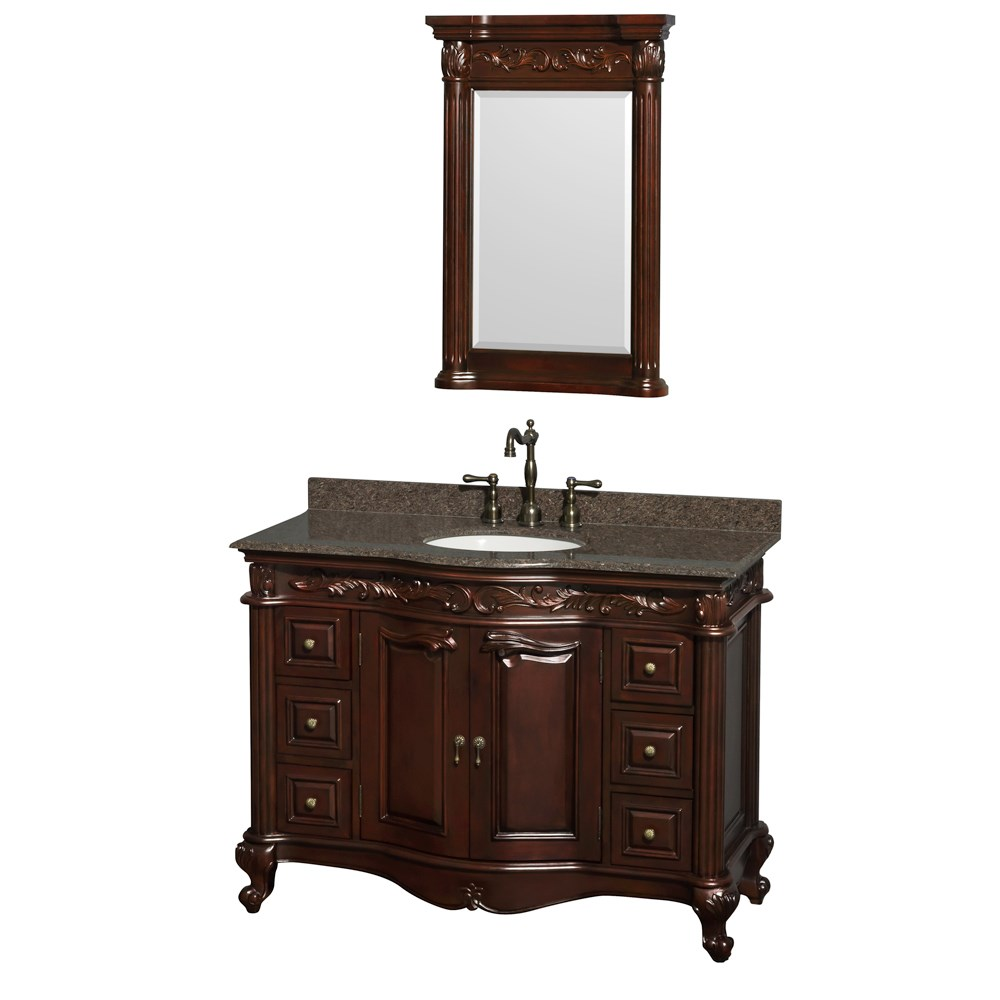 Edinburgh 48 Single Bathroom Vanity By Wyndham Collection Cherry