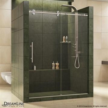 "Bath Authority DreamLine Enigma Sliding Shower Door, 56""-72"" SHDR-60727912 by Bath Authority DreamLine"