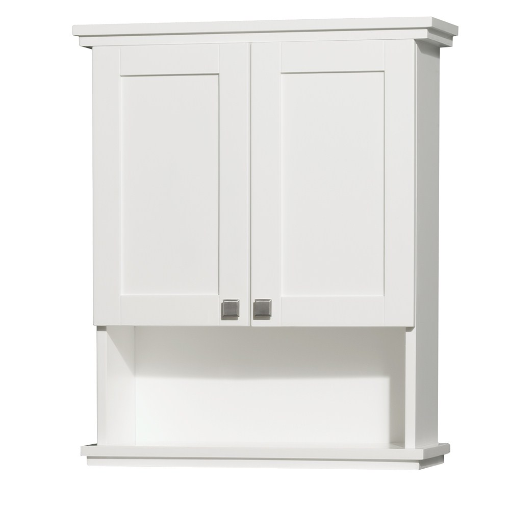 Acclaim Wall Cabinet by Wyndham Collection - White WC-CG8000-WC-WHT