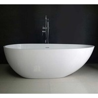 "Sherry 67"" Soaking Bathtub - Matte White JZ2001-67-MATTE"