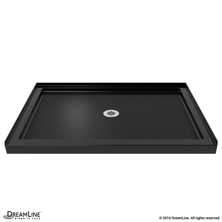 "Bath Authority DreamLine SlimLine Single Threshold Shower Base (32"" by 48"") - Black DLT-1132480-88"