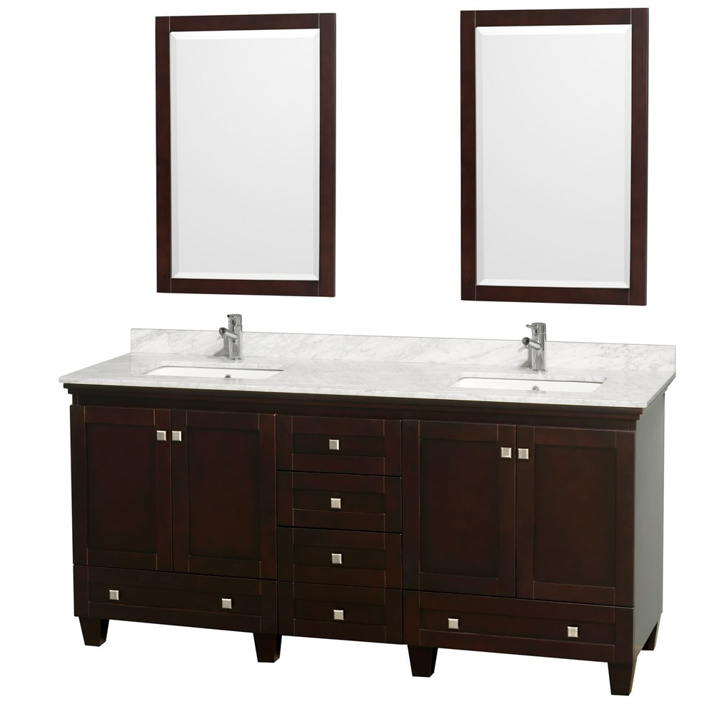 Acclaim 72 inch Double Bathroom Vanity by Wyndham Collection Espresso