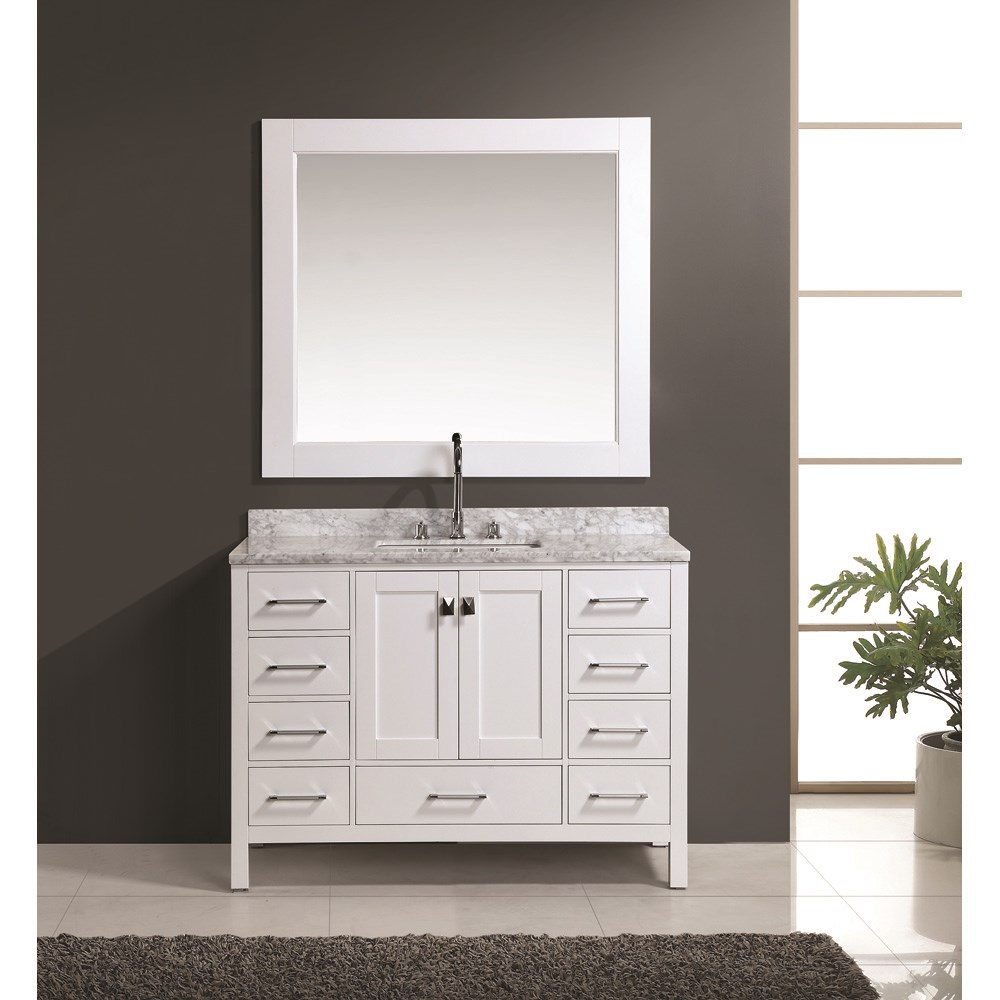 "Design Element London 48"" Vanity Set - Whitenohtin Sale $1399.00 SKU: DEC082C-W :"