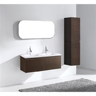 "Madeli Venasca 48"" Double Bathroom Vanity for X-Stone Top - Walnut B990-48D-002-WA-XSTONE"