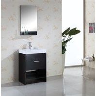 "Virtu USA Gloria 24"" Single Bathroom Vanity - Espresso MS-550-C-ES"