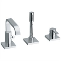 Grohe Allure Roman Tub Filler with Personal Hand Shower - Starlight Chrome