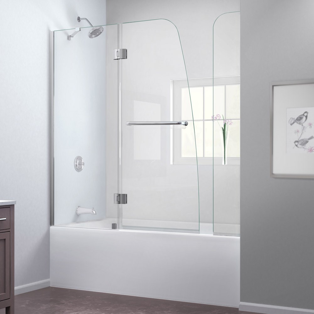 Bath Authority Dreamline Aqua Frameless Hinged Tub Door 56 60