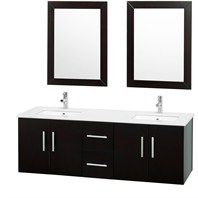 "Brooke 59"" Double Bathroom Vanity Set - Espresso OM-2104-59-ESP"