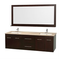 "Centra 72"" Double Bathroom Vanity for Undermount Sinks by Wyndham Collection - Espresso WC-WHE009-72-DBL-VAN-ESP-"