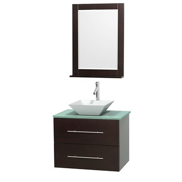"Centra 30"" Single Bathroom Vanity for Vessel Sink by Wyndham Collection, Espresso WC-WHE009-30-SGL-VAN-ESP_ by Wyndham Collection®"