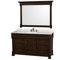 Andover 60u0026quot; Traditional Bathroom Vanity Set By Wyndham Collection    Dark Cherry WC TS60
