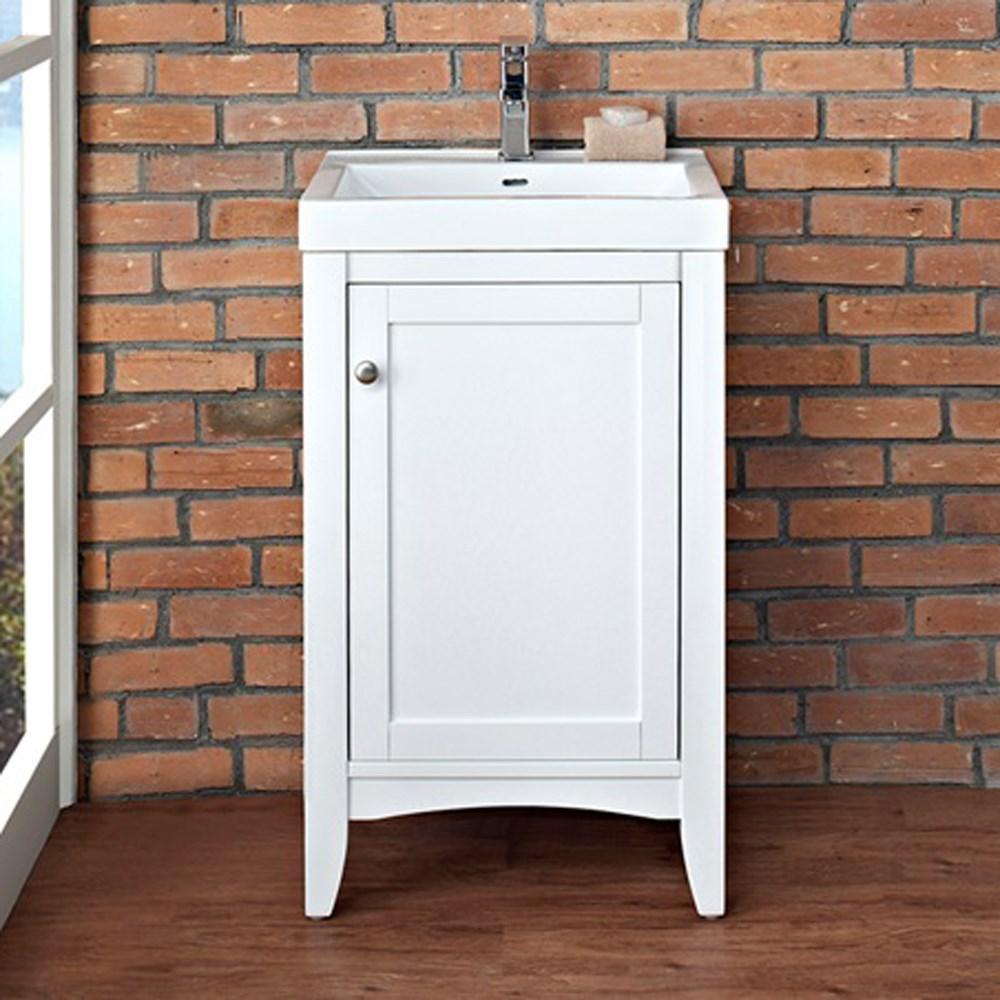 "Fairmont Designs Shaker Americana 21"" Vanity - Polar Whitenohtin Sale $700.00 SKU: 1512-V2118 :"