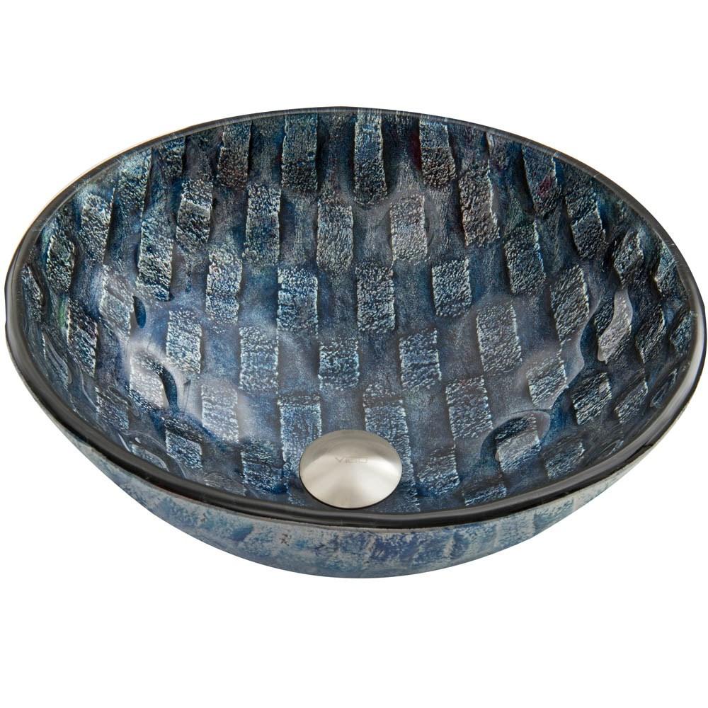 VIGO Rio Glass Vessel Sinknohtin Sale $109.90 SKU: VG07056 :