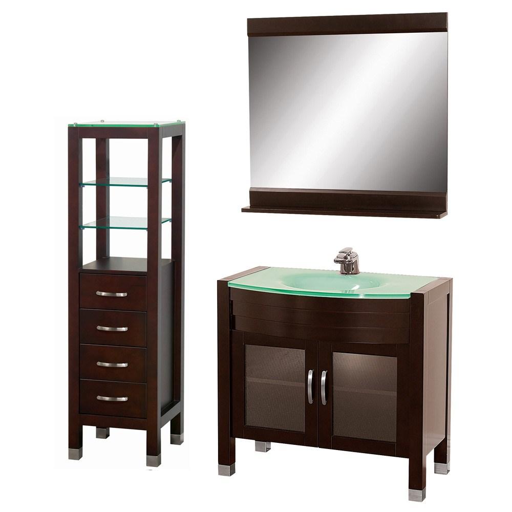 "Daytona 36"" Bathroom Vanity Set - Espressonohtin Sale $1297.00 SKU: A-W2109-36-ESP-SET :"