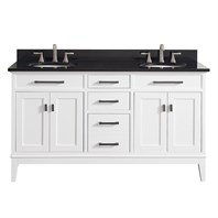"Avanity Madison 60"" Double Bathroom Vanity - White MADISON-60-WT"