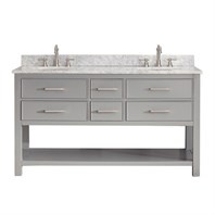 "Avanity Brooks 60"" Double Bathroom Vanity - Chilled Gray  BROOKS-60-CG"