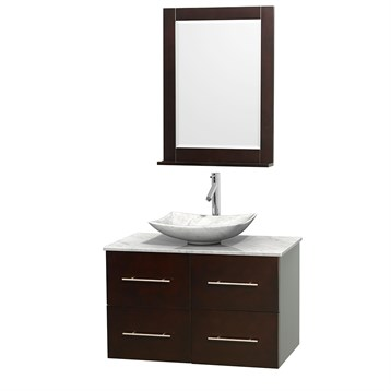 "Centra 36"" Single Bathroom Vanity for Vessel Sink by Wyndham Collection, Espresso WC-WHE009-36-SGL-VAN-ESP_ by Wyndham Collection®"