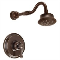 Danze Opulence Trim Only Single Handle Pressure Balance Shower Faucet - Tumbled Bronze D502857BRT