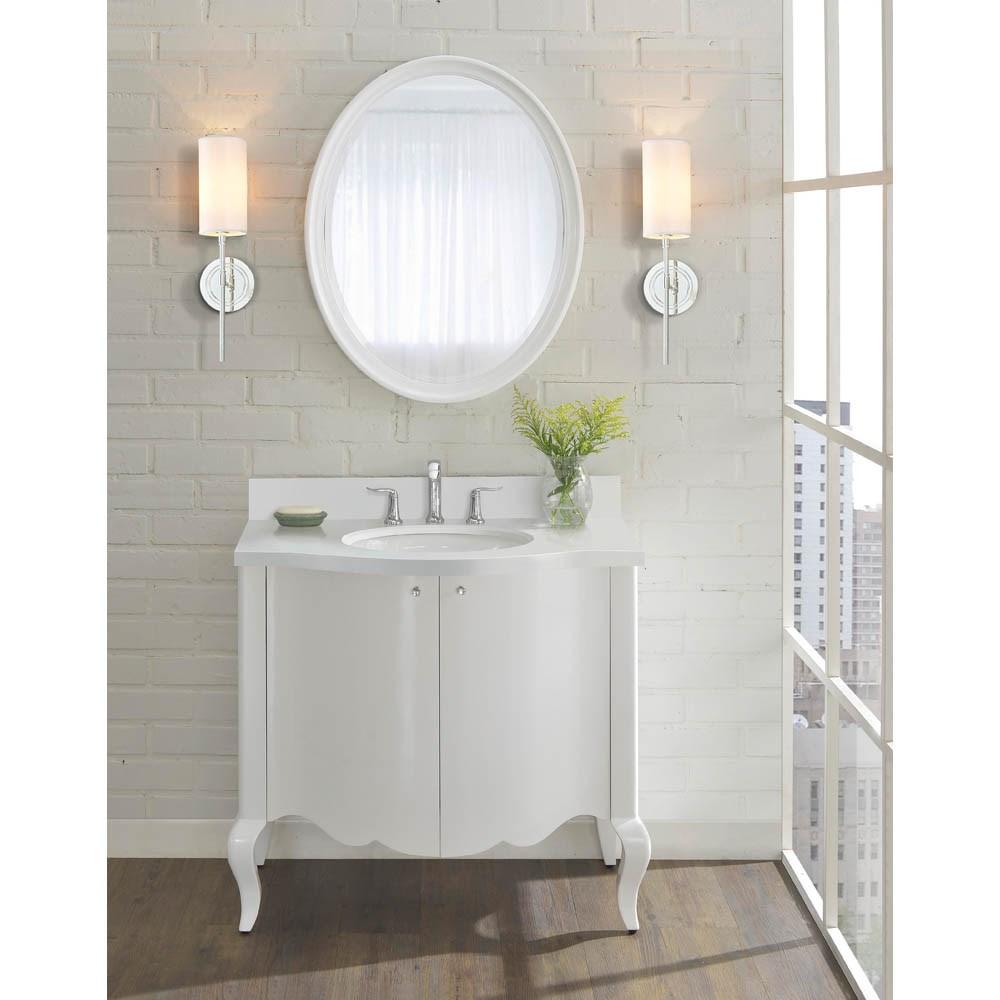 """Fairmont Designs Belle Fleur 36"""" Vanity - Glossy Whitenohtin Sale $1735.00 SKU: 1532-V36 :"""