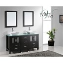 "Virtu USA Bradford 60"" Double Sink Bathroom Vanity - Espresso MD-4305"