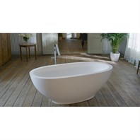 Aquatica Karolina Freestanding AquaStone Bathtub - Matte White Aquatica PS503M-Wht