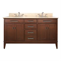 "Avanity Madison 60"" Double Bathroom Vanity - Tobacco AVA6027-60-TB"