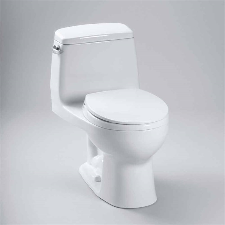 TOTO Eco UltraMax One-Piece Round Toilet, 1.28 GPF - SoftClose Seat Included MS853113E