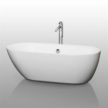 """Melissa 65"""" Soaking Bathtub by Wyndham Collection WC-BT1000-65 by Wyndham Collection®"""