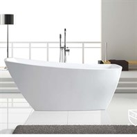 "BTK1533 67"" Soaking Bathtub by Wyndham Collection - White WC-BTK1533-67"