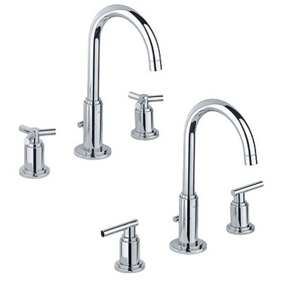 Grohe Atrio High Spout Lavatory Wideset - Starlight Chromenohtin Sale $440.99 SKU: GRO 20069000 :