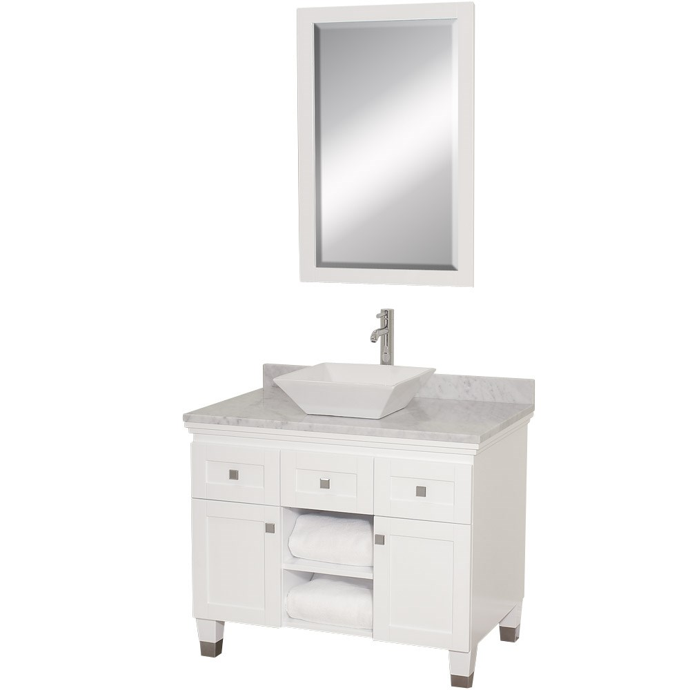 "Premiere 36"" Bathroom Vanity by Wyndham Collection - White ..."