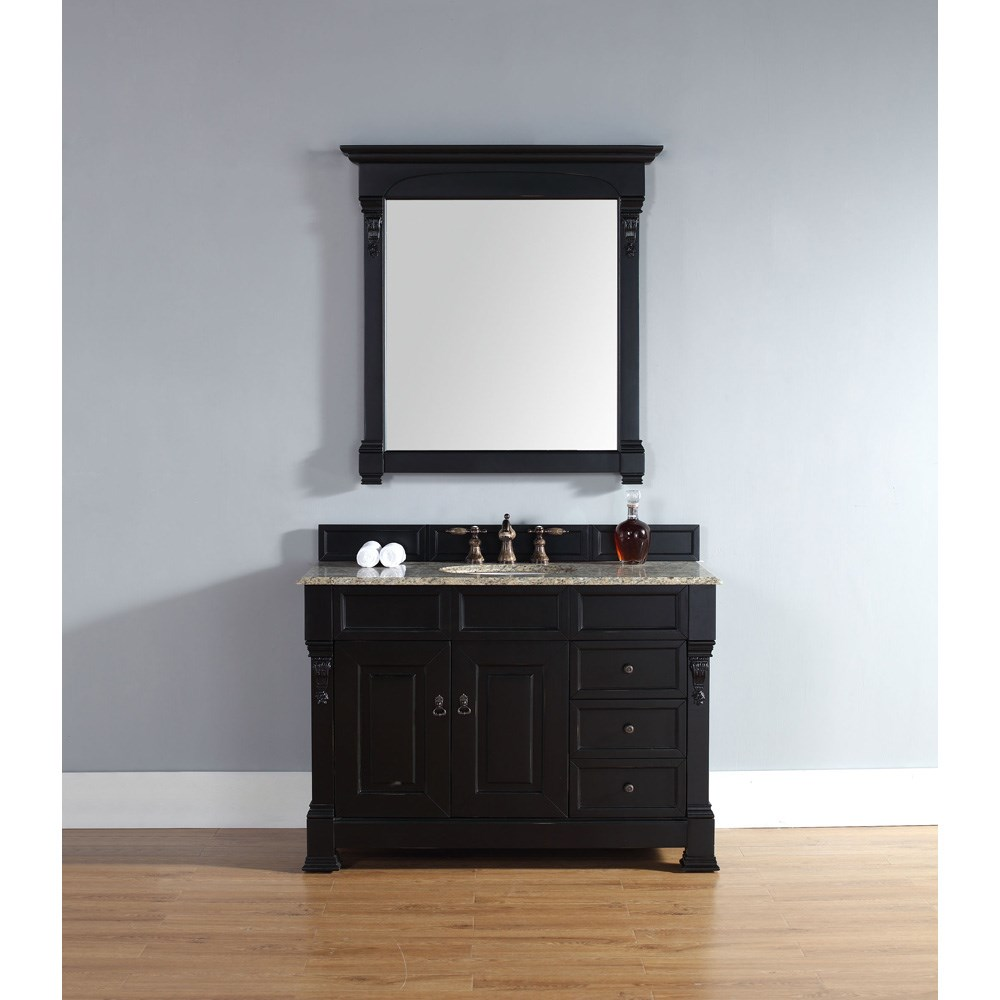 "James Martin 48"" Brookfield Single Vanity with drawers - Antique Black 