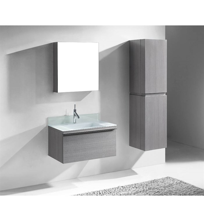 "Madeli Venasca 30"" Bathroom Vanity for Integrated Basin - Ash Grey B990-30-002-AG"