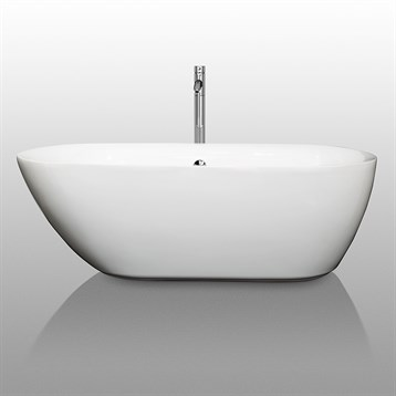 Melissa 65 soaking bathtub by wyndham collection free for Most comfortable tub reviews