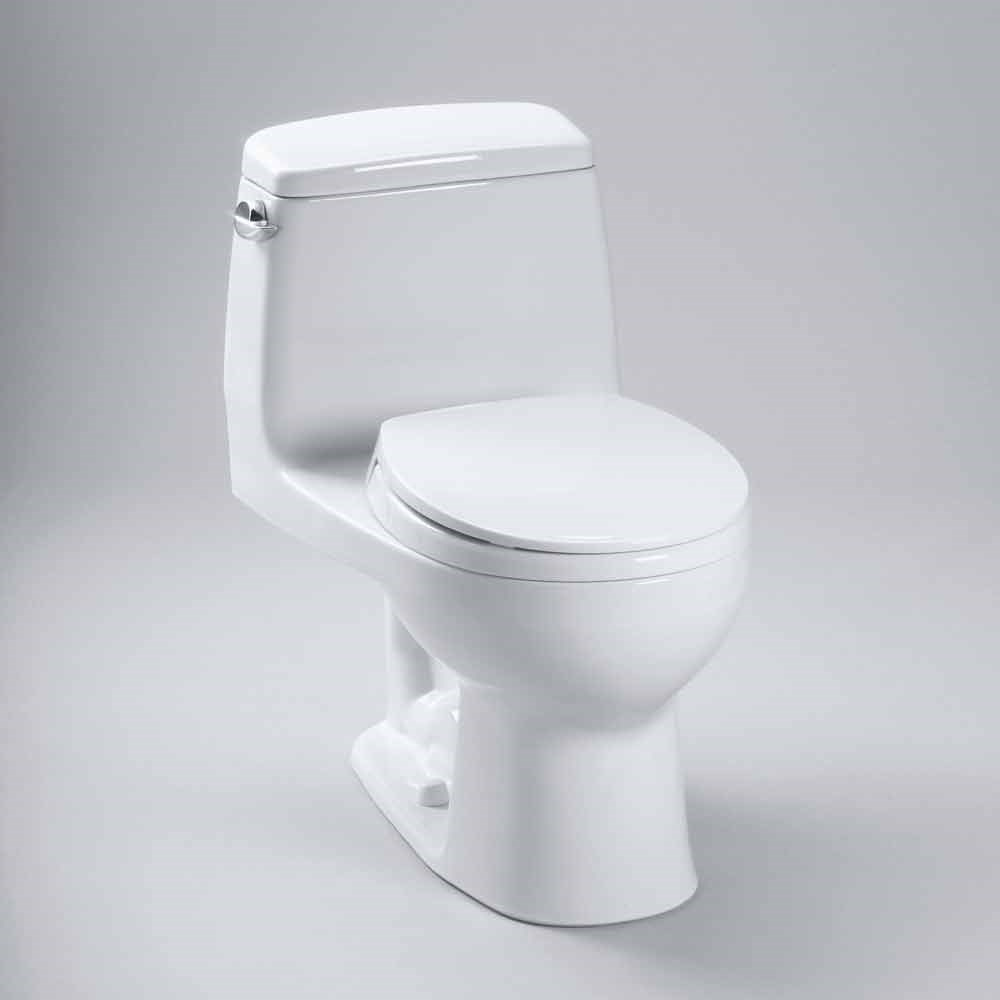 TOTO Eco UltraMax One-Piece Round Toilet, 1.28 GPF - SoftClose Seat ...