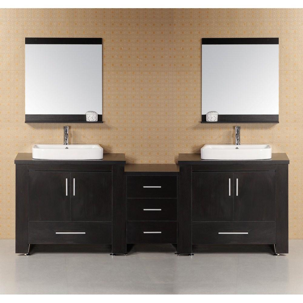 "Design Element Washington 92"" Modern Bathroom Vanity - Espressonohtin Sale $1799.00 SKU: DEC083-E :"