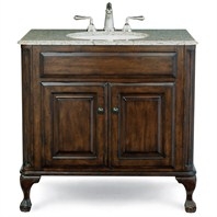 "Cole & Co. Custom Collection 37"" Estate Vanity - Large in Antique Brown 12.11.275237.01.EST"