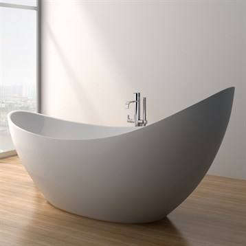 Debbi 74 soaking bathtub matte white free shipping for Most comfortable tub reviews