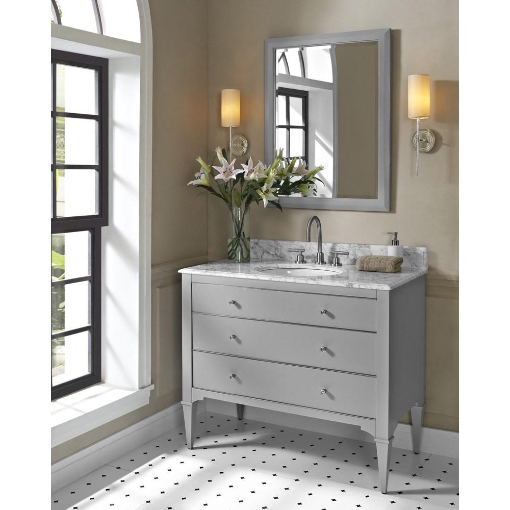"Fairmont Designs Charlottesville 42"" Vanity for Undermount Oval Sink - Light Graynohtin Sale $1655.00 SKU: 1510-V42_ :"