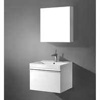 "Madeli Venasca 24"" Bathroom Vanity with Integrated Basin - Glossy White Venasca-24-GW"