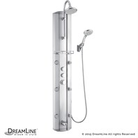 Bath Authority DreamLine Hydrotherapy Shower Column with Shower Accessory Holder SHCM-23580 SHCM-23580