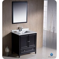 "Fresca Oxford 30"" Traditional Bathroom Vanity - Espresso FVN2030ES"