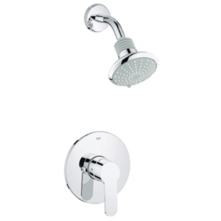 Grohe Eurostyle Cosmopolitan Pressure Balance Valve Shower Combination - Starlight Chrome GRO 35023002