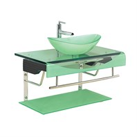 "Versa 36"" Bathroom Vanity with Glass Countertop - Seafoam B204SEAFOAMSET*"