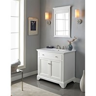 "Fairmont Designs 36"" Framingham Vanity with Integrated Sink Option - Polar White 1502-V36-"