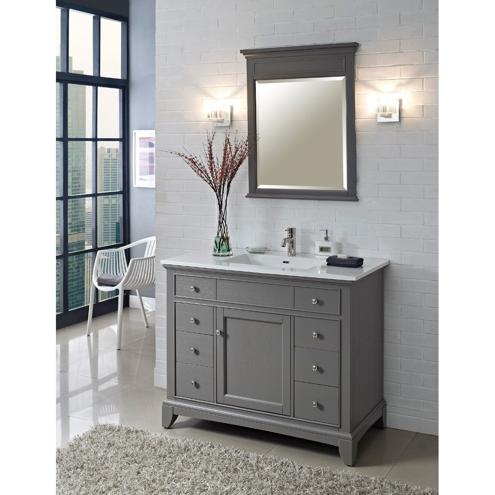 Fairmont Designs 42 Smithfield Vanity Medium Gray Free Shipping Modern Bathroom